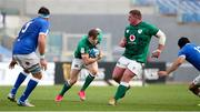 27 February 2021; Garry Ringrose of Ireland evades team-mate Tadhg Furlong while making a break during the Guinness Six Nations Rugby Championship match between Italy and Ireland at Stadio Olimpico in Rome, Italy. Photo by Roberto Bregani/Sportsfile