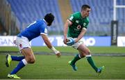 27 February 2021; Jonathan Sexton of Ireland in action against Juan Ignacio Brex of Italy during the Guinness Six Nations Rugby Championship match between Italy and Ireland at Stadio Olimpico in Rome, Italy. Photo by Roberto Bregani/Sportsfile