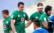 27 February 2021; James Ryan, left, and Iain Henderson of Ireland during the Guinness Six Nations Rugby Championship match between Italy and Ireland at Stadio Olimpico in Rome, Italy. Photo by Roberto Bregani/Sportsfile