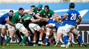27 February 2021; Ryan Baird, right and team-mate Tadhg Beirne of Ireland control a maul during the Guinness Six Nations Rugby Championship match between Italy and Ireland at Stadio Olimpico in Rome, Italy. Photo by Roberto Bregani/Sportsfile