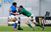 27 February 2021; Montanna Ioane of Italy is tackled by Tadhg Beirne and James Ryan of Ireland during the Guinness Six Nations Rugby Championship match between Italy and Ireland at Stadio Olimpico in Rome, Italy. Photo by Roberto Bregani/Sportsfile