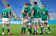 27 February 2021; Garry Ringrose of Ireland and team-mates celebrate after the Guinness Six Nations Rugby Championship match between Italy and Ireland at Stadio Olimpico in Rome, Italy. Photo by Roberto Bregani/Sportsfile