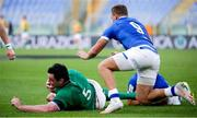 27 February 2021; James Ryan of Ireland is tackled by Callum Braley of Italy during the Guinness Six Nations Rugby Championship match between Italy and Ireland at Stadio Olimpico in Rome, Italy. Photo by Roberto Bregani/Sportsfile
