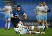 28 February 2021; Ryan Wilson of Glasgow Warriors in action against Josh Murphy of Leinster during the Guinness PRO14 match between Leinster and Glasgow Warriors at the RDS Arena in Dublin. Photo by Ramsey Cardy/Sportsfile