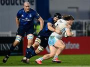 28 February 2021; Thomas Gordon of Glasgow Warriors is tackled by Scott Fardy of Leinster during the Guinness PRO14 match between Leinster and Glasgow Warriors at the RDS Arena in Dublin. Photo by Harry Murphy/Sportsfile
