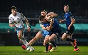 28 February 2021; David Hawkshaw of Leinster is tackled by Thomas Gordon of Glasgow Warriors during the Guinness PRO14 match between Leinster and Glasgow Warriors at the RDS Arena in Dublin. Photo by Ramsey Cardy/Sportsfile