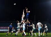 28 February 2021; Devin Toner of Leinster wins possession in the lineout against Richie Gray of Glasgow Warriors during the Guinness PRO14 match between Leinster and Glasgow Warriors at the RDS Arena in Dublin. Photo by Harry Murphy/Sportsfile