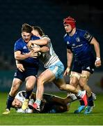 28 February 2021; David Hawkshaw of Leinster is tackled by Thomas Gordon of Glasgow Warriors during the Guinness PRO14 match between Leinster and Glasgow Warriors at the RDS Arena in Dublin. Photo by Harry Murphy/Sportsfile