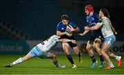 28 February 2021; David Hawkshaw of Leinster is tackled by Sam Johnson of Glasgow Warriors during the Guinness PRO14 match between Leinster and Glasgow Warriors at the RDS Arena in Dublin. Photo by Harry Murphy/Sportsfile