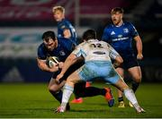 28 February 2021; Peter Dooley of Leinster during the Guinness PRO14 match between Leinster and Glasgow Warriors at the RDS Arena in Dublin. Photo by Ramsey Cardy/Sportsfile