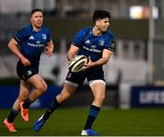 28 February 2021; Harry Byrne of Leinster supported by Rory O'Loughlin of Leinster during the Guinness PRO14 match between Leinster and Glasgow Warriors at the RDS Arena in Dublin. Photo by Harry Murphy/Sportsfile