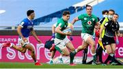 27 February 2021; Garry Ringrose of Ireland makes a break during the Guinness Six Nations Rugby Championship match between Italy and Ireland at Stadio Olimpico in Rome, Italy. Photo by Roberto Bregani/Sportsfile
