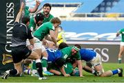 27 February 2021; Will Connors of Ireland scores his second try of the game during the Guinness Six Nations Rugby Championship match between Italy and Ireland at Stadio Olimpico in Rome, Italy. Photo by Roberto Bregani/Sportsfile