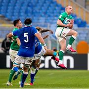 27 February 2021; Keith Earls of Ireland collects a high ball during the Guinness Six Nations Rugby Championship match between Italy and Ireland at Stadio Olimpico in Rome, Italy. Photo by Roberto Bregani/Sportsfile