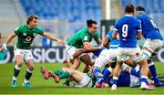 27 February 2021; Craig Casey, left and James Lowe of Ireland during the Guinness Six Nations Rugby Championship match between Italy and Ireland at Stadio Olimpico in Rome, Italy. Photo by Roberto Bregani/Sportsfile