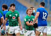 27 February 2021; Craig Casey of Ireland with Carlo Canna of Italy after the Guinness Six Nations Rugby Championship match between Italy and Ireland at Stadio Olimpico in Rome, Italy. Photo by Roberto Bregani/Sportsfile