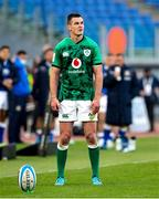 27 February 2021; Jonathan Sexton of Ireland prepares to kick a conversion during the Guinness Six Nations Rugby Championship match between Italy and Ireland at Stadio Olimpico in Rome, Italy. Photo by Roberto Bregani/Sportsfile