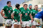 27 February 2021; The Ireland pack, from left, James Ryan, Andrew Porter, Rónan Kelleher, Will Connors and Cian Healy during the Guinness Six Nations Rugby Championship match between Italy and Ireland at Stadio Olimpico in Rome, Italy. Photo by Roberto Bregani/Sportsfile