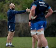 2 March 2021; Contact Skills Coach Hugh Hogan during Leinster Rugby squad training at UCD in Dublin. Photo by Ramsey Cardy/Sportsfile