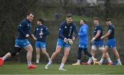 2 March 2021; Ross Byrne, right, and Peter Dooley during Leinster Rugby squad training at UCD in Dublin. Photo by Ramsey Cardy/Sportsfile