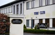 3 March 2021; A general view of the offices of the Irish Horseracing Regulatory Board at the Curragh Racecourse in Kildare. Photo by David Fitzgerald/Sportsfile