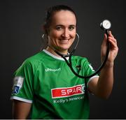 2 March 2021; Dr Dora Gorman, Medical Senior House Officer in Our Lady's Hospital, Navan, during a Peamount United portrait session ahead of the 2021 SSE Airtricity Women's National League season at PRL Park in Greenogue, Dublin. Photo by Stephen McCarthy/Sportsfile
