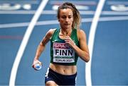 4 March 2021; Michelle Finn of Ireland warms up ahead of her heat of the Women's 3000m during the European Indoor Athletics Championships at Arena Torun in Torun, Poland. Photo by Sam Barnes/Sportsfile