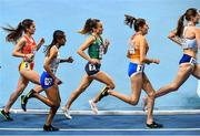 4 March 2021; Michelle Finn of Ireland, centre, competes in the Women's 3000m heats during the European Indoor Athletics Championships at Arena Torun in Torun, Poland. Photo by Sam Barnes/Sportsfile