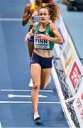 4 March 2021; Michelle Finn of Ireland competes in the Women's 3000m during the European Indoor Athletics Championships at Arena Torun in Torun, Poland. Photo by Sam Barnes/Sportsfile