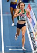 4 March 2021; Michelle Finn of Ireland finishes her heat of the Women's 3000m during the European Indoor Athletics Championships at Arena Torun in Torun, Poland. Photo by Sam Barnes/Sportsfile