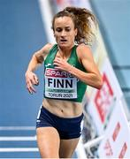 4 March 2021; Michelle Finn of Ireland competes in the Women's 3000m heats during the European Indoor Athletics Championships at Arena Torun in Torun, Poland. Photo by Sam Barnes/Sportsfile