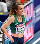 4 March 2021; Michelle Finn of Ireland after her heat of the Women's 3000m during the European Indoor Athletics Championships at Arena Torun in Torun, Poland. Photo by Sam Barnes/Sportsfile