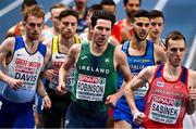 4 March 2021; Paul Robinson of Ireland competes in the Men's 1500m heats during the European Indoor Athletics Championships at Arena Torun in Torun, Poland. Photo by Sam Barnes/Sportsfile