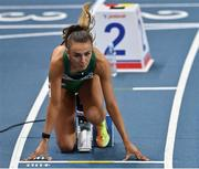 5 March 2021; Sharlene Mawdsley of Ireland on the starting blocks of her heat of the Women's 400m during the first session on day one of the European Indoor Athletics Championships at Arena Torun in Torun, Poland. Photo by Sam Barnes/Sportsfile