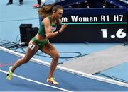 5 March 2021; Sharlene Mawdsley of Ireland competing in the Women's 400m heats during the first session on day one of the European Indoor Athletics Championships at Arena Torun in Torun, Poland. Photo by Sam Barnes/Sportsfile