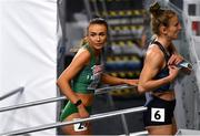 5 March 2021; Sharlene Mawdsley of Ireland after her heat of the Women's 400m during the first session on day one of the European Indoor Athletics Championships at Arena Torun in Torun, Poland. Photo by Sam Barnes/Sportsfile