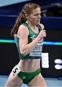 5 March 2021; Siofra Cleirigh Buttner of Ireland competes in the Women's 800m heats during the first session on day one of the European Indoor Athletics Championships at Arena Torun in Torun, Poland. Photo by Sam Barnes/Sportsfile