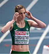 5 March 2021; Siofra Cleirigh Buttner of Ireland prior to her heat of the Women's 800m during the first session on day one of the European Indoor Athletics Championships at Arena Torun in Torun, Poland. Photo by Sam Barnes/Sportsfile