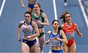 5 March 2021; Siofra Cleirigh Buttner of Ireland on her way to finish fourth behind Isabelle Boffey of Great Britain Daniela Garcia of Spain and Elena Bellò of Italy in the Women's 800m heats during the first session on day one of the European Indoor Athletics Championships at Arena Torun in Torun, Poland. Photo by Sam Barnes/Sportsfile