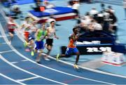 5 March 2021; Liemarvin Bonevacia of Netherlands on his way to winning his semi-final of the Men's 400m during the second session on day one of the European Indoor Athletics Championships at Arena Torun in Torun, Poland. Photo by Sam Barnes/Sportsfile