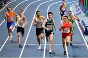 5 March 2021; Cian McPhillips of Ireland and Mariano Garcia of Spain race for the line in their heat of the 800m during the second session on day one of the European Indoor Athletics Championships at Arena Torun in Torun, Poland. Photo by Sam Barnes/Sportsfile