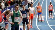 5 March 2021; Mark English of Ireland prior to his heat of the Men's 800m during the second session on day one of the European Indoor Athletics Championships at Arena Torun in Torun, Poland. Photo by Sam Barnes/Sportsfile