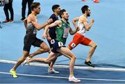 5 March 2021; John Fitzsimons of Ireland, centre, competes in the Men's 800m qualifying round during the second session on day one of the European Indoor Athletics Championships at Arena Torun in Torun, Poland. Photo by Sam Barnes/Sportsfile