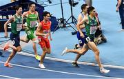 5 March 2021; Paul Robinson, left, and Andrew Coscoran of Ireland competing in the Men's 1500m final during the second session on day one of the European Indoor Athletics Championships at Arena Torun in Torun, Poland. Photo by Sam Barnes/Sportsfile