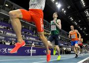 5 March 2021; Mark English of Ireland competes in the Men's 800m heats during the second session on day one of the European Indoor Athletics Championships at Arena Torun in Torun, Poland. Photo by Sam Barnes/Sportsfile