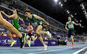 5 March 2021; Andrew Coscoran and Paul Robinson of Ireland cross the line in the Men's 1500m final during the second session on day one of the European Indoor Athletics Championships at Arena Torun in Torun, Poland. Photo by Sam Barnes/Sportsfile