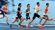 6 March 2021; Séan Tobin of Ireland, centre, competes in the Men's 3000m heats during the first session on day two of the European Indoor Athletics Championships at Arena Torun in Torun, Poland. Photo by Sam Barnes/Sportsfile