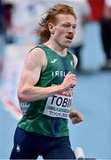 6 March 2021; Séan Tobin of Ireland competes in the Men's 3000m heats during the first session on day two of the European Indoor Athletics Championships at Arena Torun in Torun, Poland. Photo by Sam Barnes/Sportsfile