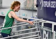 6 March 2021; Séan Tobin of Ireland after finishing fifth in his heat of the Men's 3000m during the first session on day two of the European Indoor Athletics Championships at Arena Torun in Torun, Poland. Photo by Sam Barnes/Sportsfile