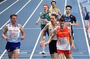 6 March 2021; Séan Tobin of Ireland crosses the line in fifth place in his heat of the Men's 3000m during the first session on day two of the European Indoor Athletics Championships at Arena Torun in Torun, Poland. Photo by Sam Barnes/Sportsfile